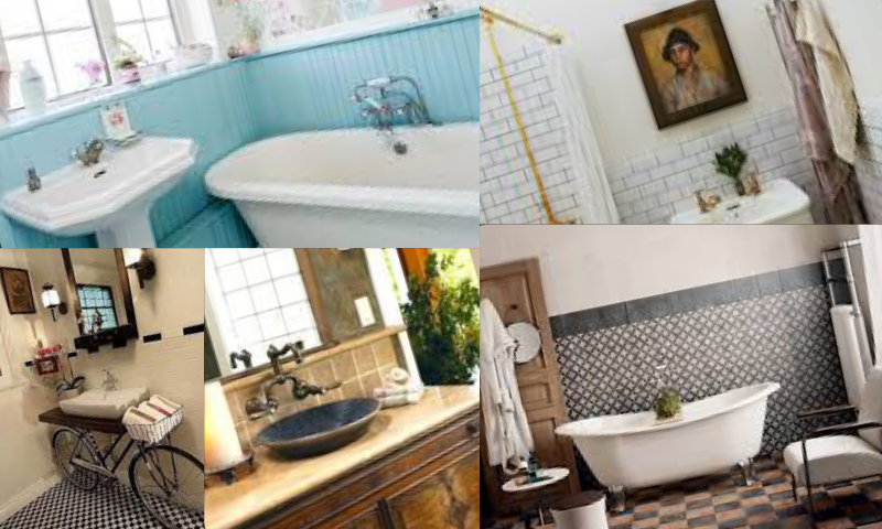 Banyolarda Vintage Dekorasyon